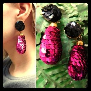 Fabulous Vintage Sequined clip on earrings